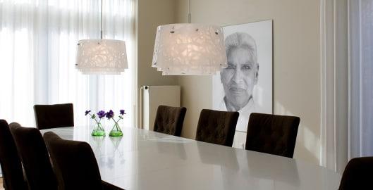 Wonderbaar Welke diameter moet de lamp boven je eettafel hebben? - dmLights Blog QB-96
