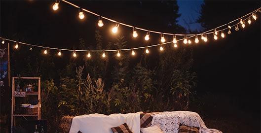 Een guirlande, da's feest in je tuin
