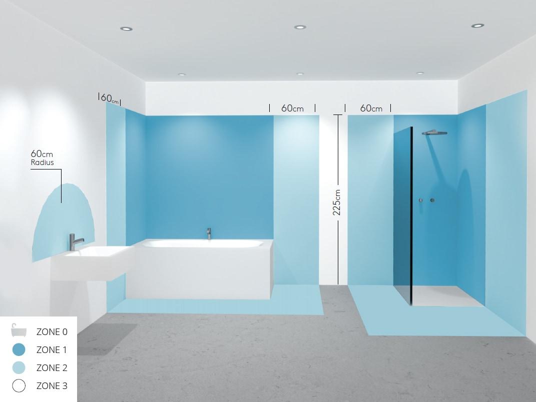 Hoe weet ik of ik een verlichtingstoestel in de badkamer mag ...